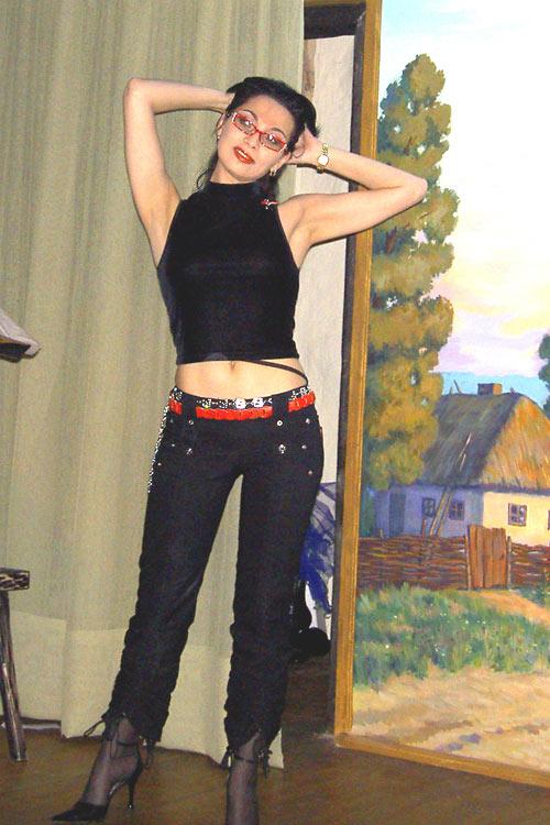 Ольга Ларина перед началом очередного праздничного мероприятия.